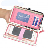 Women's leather wallet for mobile, cards and money, high quality, multi-color