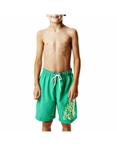Boy's Printed Green Shorts