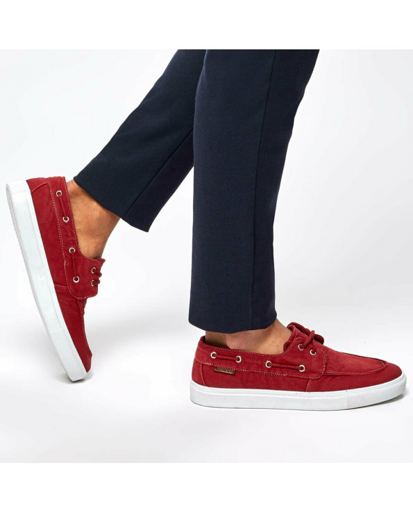 Men's Lace-up Red Sneakers