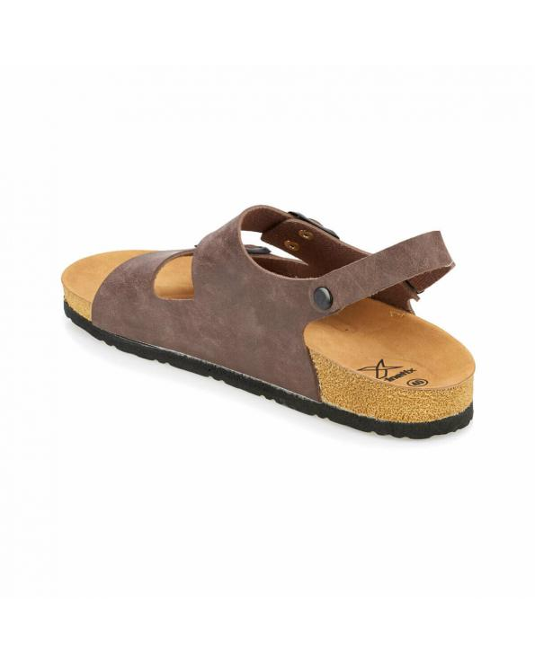 Men's Banded Brown Slippers