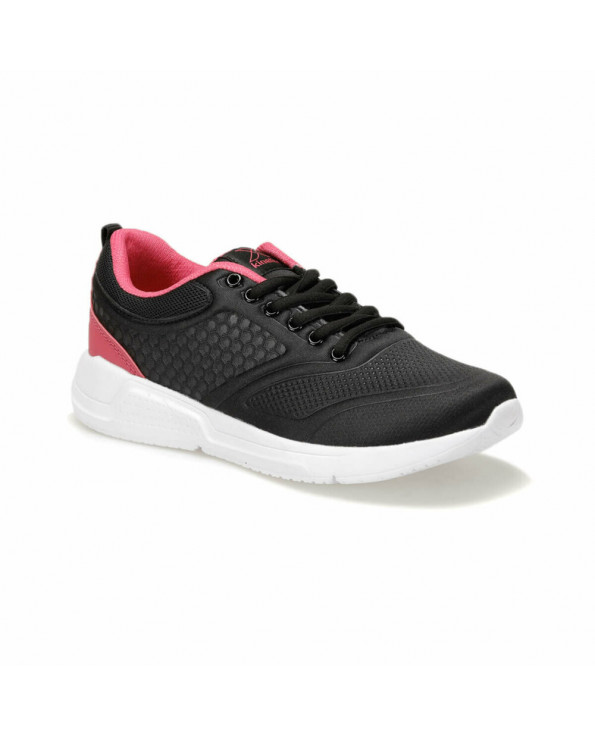 Women's Lace-up Black Sneakers