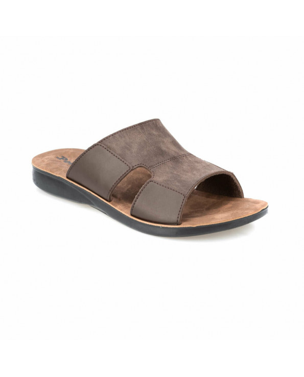 Men's Brown Classic Slippers