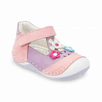 Girl's Lilac Pink Leather Shoes