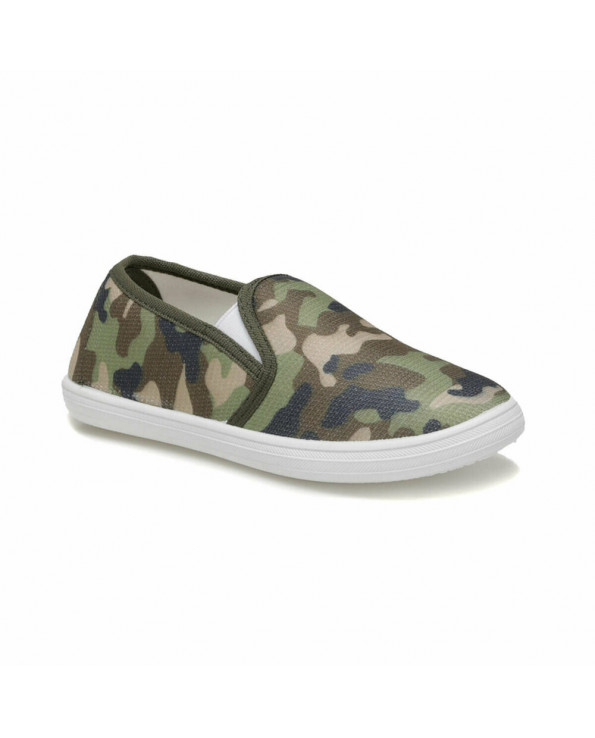 Boy's Camo Pattern Khaki Loafers Shoes