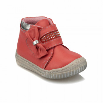 Baby Girl's Velcro Strap Coral Boots