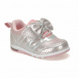 Girl's Bow-tie Silver Sneakers