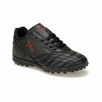 Boy's Lace-up Black Football Shoes