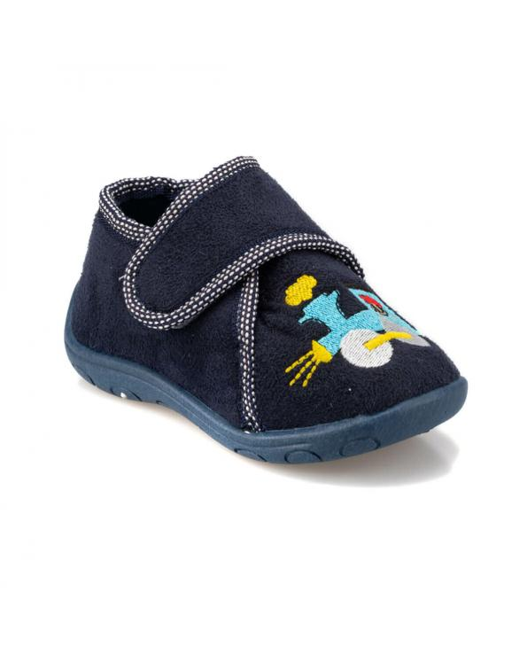 Boy's Velcro Strap Navy Blue Snoozies