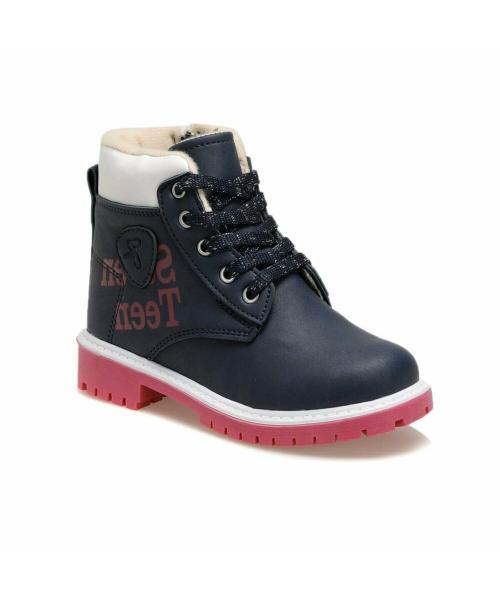 Girl's Navy Blue Boots