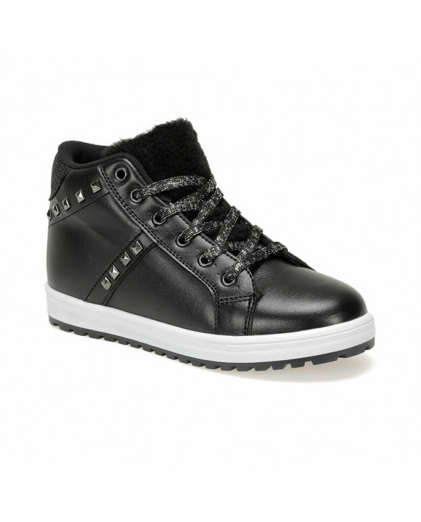 Girl's Lace-up Black Ankle Boots