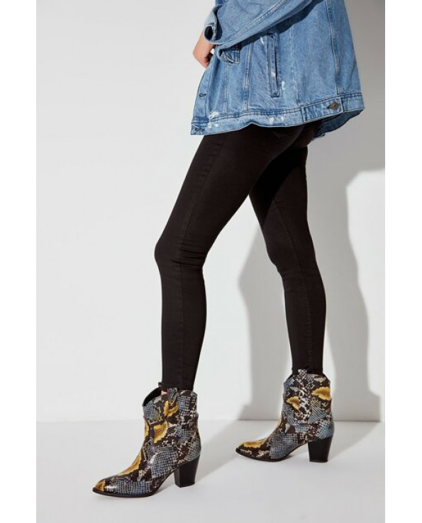 Women's Snake Pattern Leather Boot