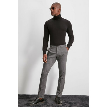 Men's Grey Fabric Pants