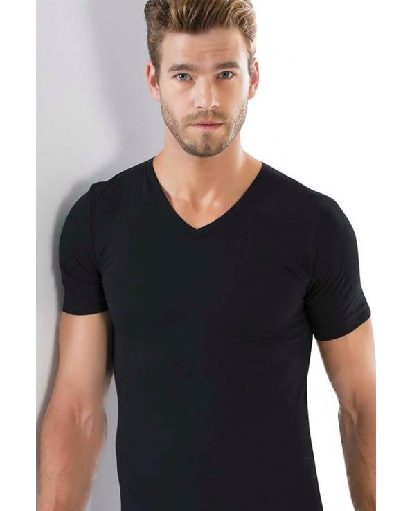 Men's V Neck Lycra T-Shirt