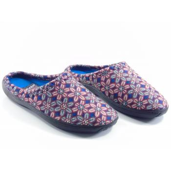 Women's Patterned Multi-color Winter House Slippers