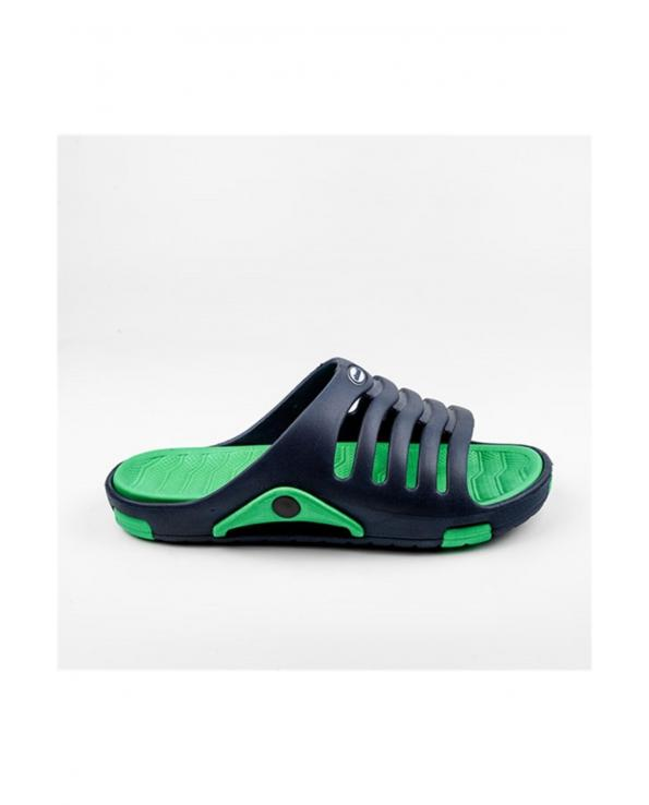 Men's Navy Blue - Green Slippers