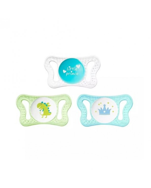 Baby Boy's Silicone Pacifier- 2 Pieces (Months 0-2)