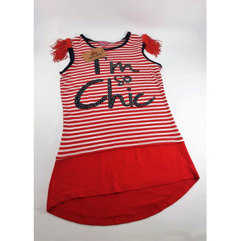 Girl's Striped Red Tunic/ Dress
