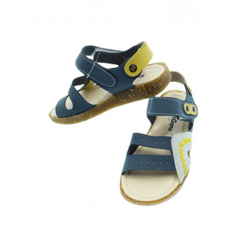 Boy's Velcro Strap Navy Blue Orthopedic Sandals
