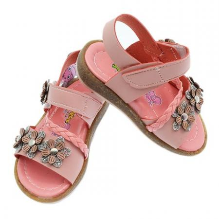 Baby Girl's Velcro Strap Floral Pattern Orthopedic Sandals
