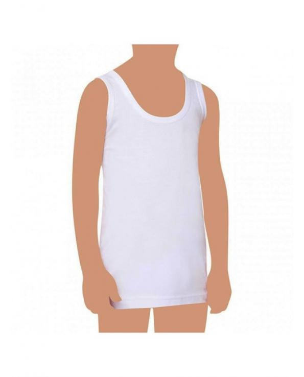 Girl's Thick Strap White Undershirt (Ages 1-2)