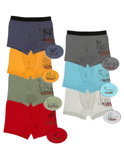 Boy's Printed Boxer- 7 Pieces