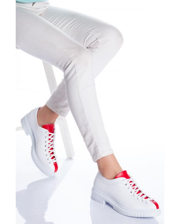 Women's White - Red Shoes