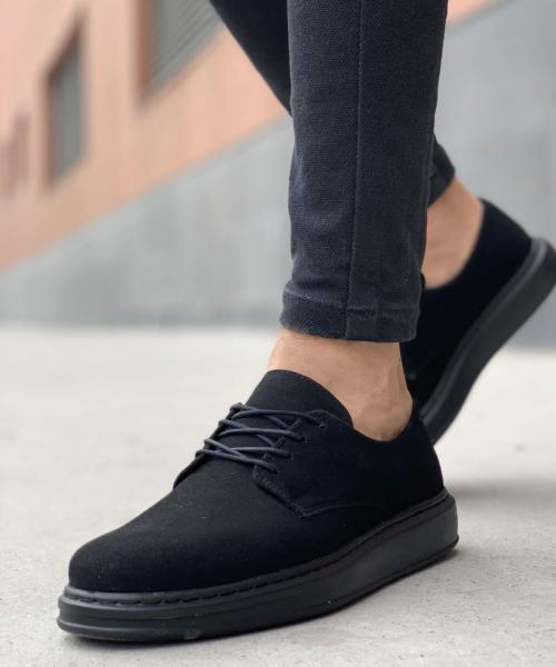 Men's Black Suede Shoes