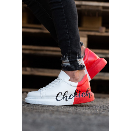 Men's Printed Red- White Sport Shoes