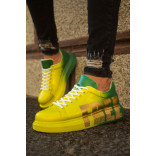 Men's Printed Yellow- Green Sport Shoes