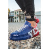 Men's Printed Blue- Red Sport Shoes