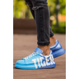 Men's Printed Blue- Dark Blue Sport Shoes