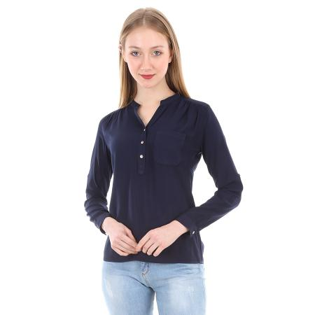 Women's Crew Neck One Pocket Shirt