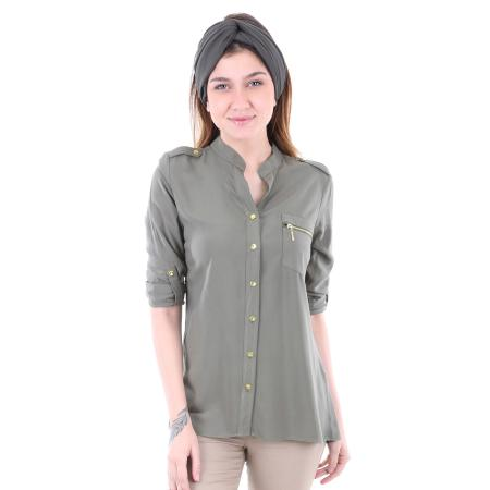 Women's Zipped One Pocket Shirt
