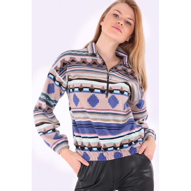 Women's Ethnic Pattern Sweatshirt