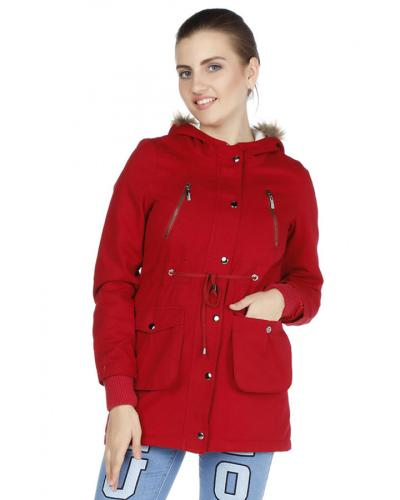 Women's Hooded Pocket Coat
