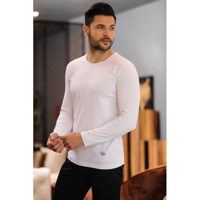 Men's Basic White Sweatshirt