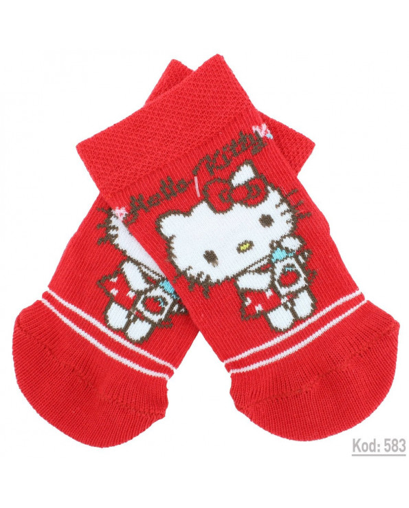 Baby's Hello Kitty Licensed Red Socks