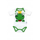 Baby's Frog Figure Snap Crotch Bodysuit- 3 Pieces