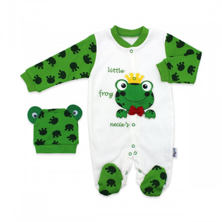 Baby's Printed Green Romper