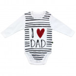 Baby's Long Sleeves Printed White Snap Crotch Bodysuit