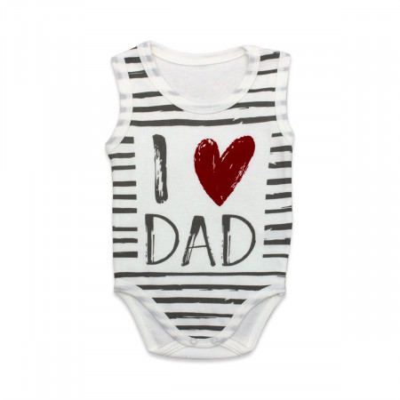 Baby's Strappy 'I Love Dad' Print Snapsuit