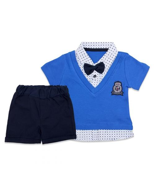Baby's Summer Blue T-shirt & Shorts Set