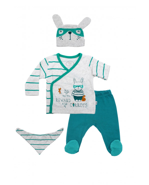 Baby's Rabbit Printed Outfit Set