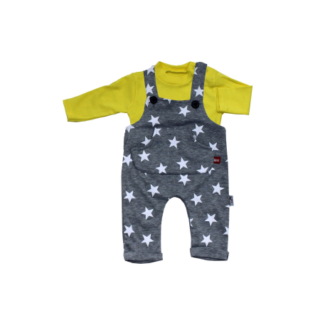 Baby's Star Print Yellow Grey Outfit Set
