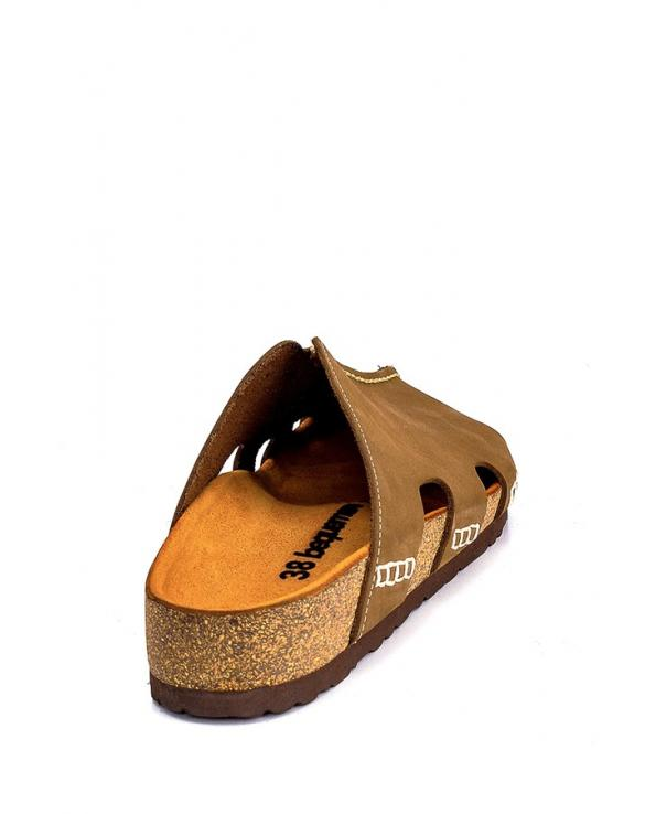 Unisex Anatomic Cork Footbed Leather Slippers