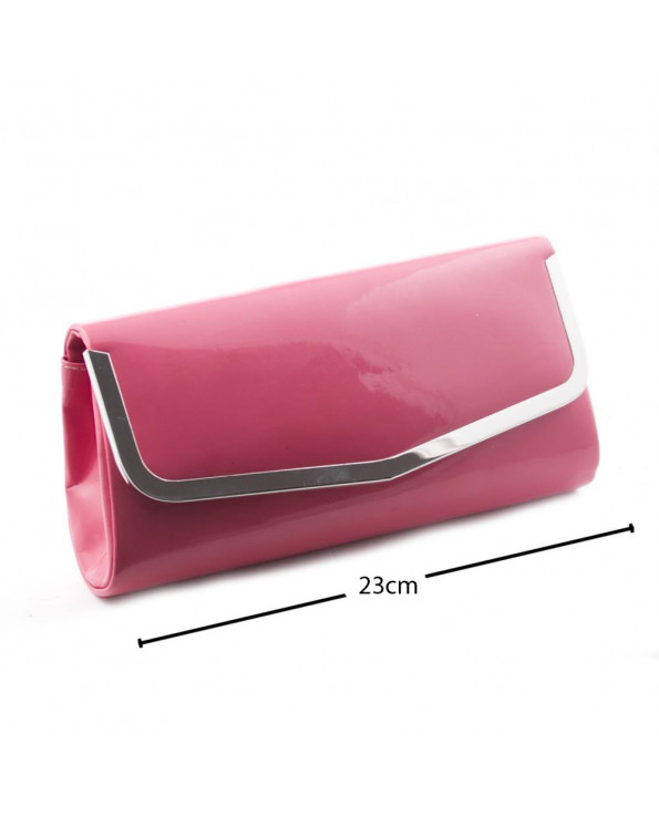 Women's Patent Leather Evening Clutch Bag