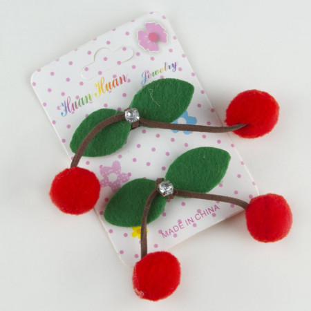 Girl's Cherry Figure Hair Clips