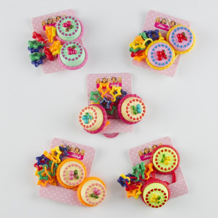 Girl's Cake Figure Elastic Hair Ties
