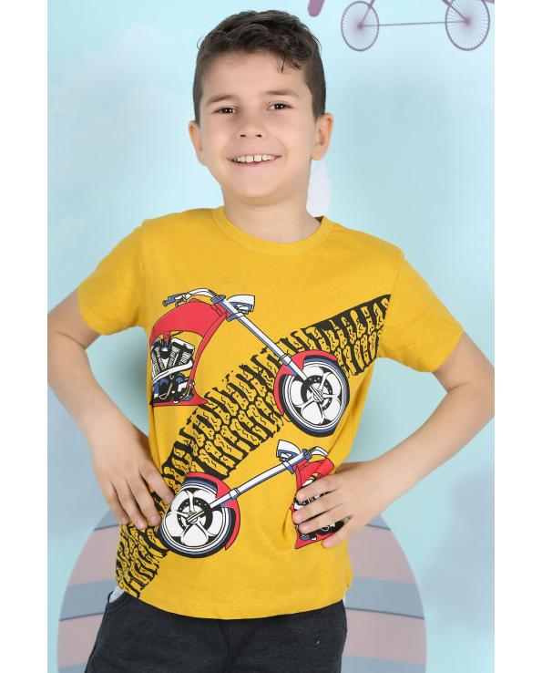 Boy's Short Sleeves Printed T-shirt