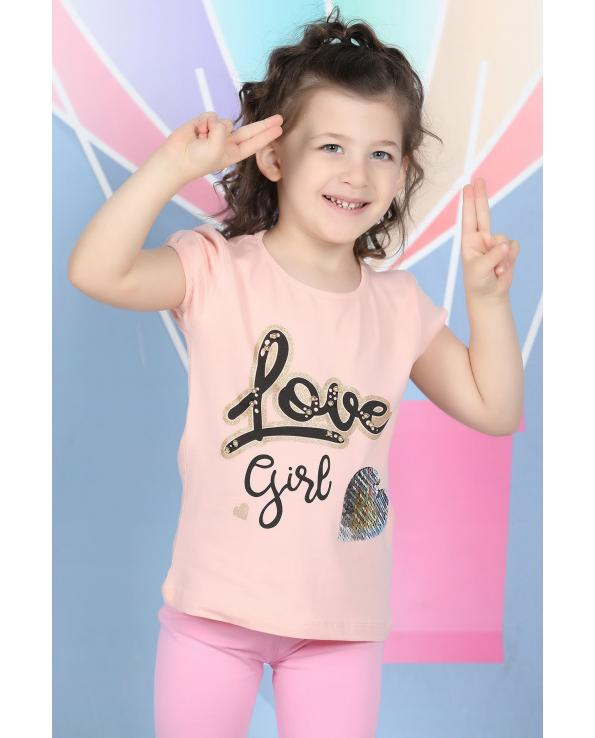 Girl's Short Sleeve Printed T-shirt